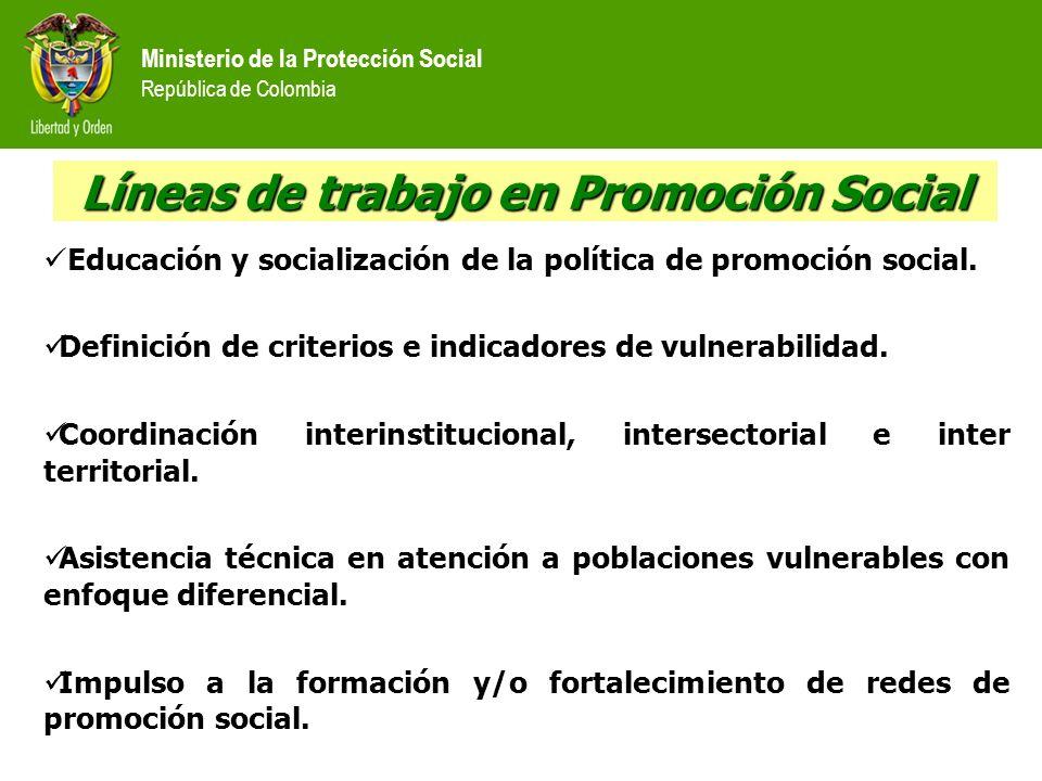 Líneas de trabajo en Promoción Social