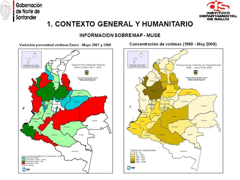 1. CONTEXTO GENERAL Y HUMANITARIO INFORMACION SOBRE MAP - MUSE