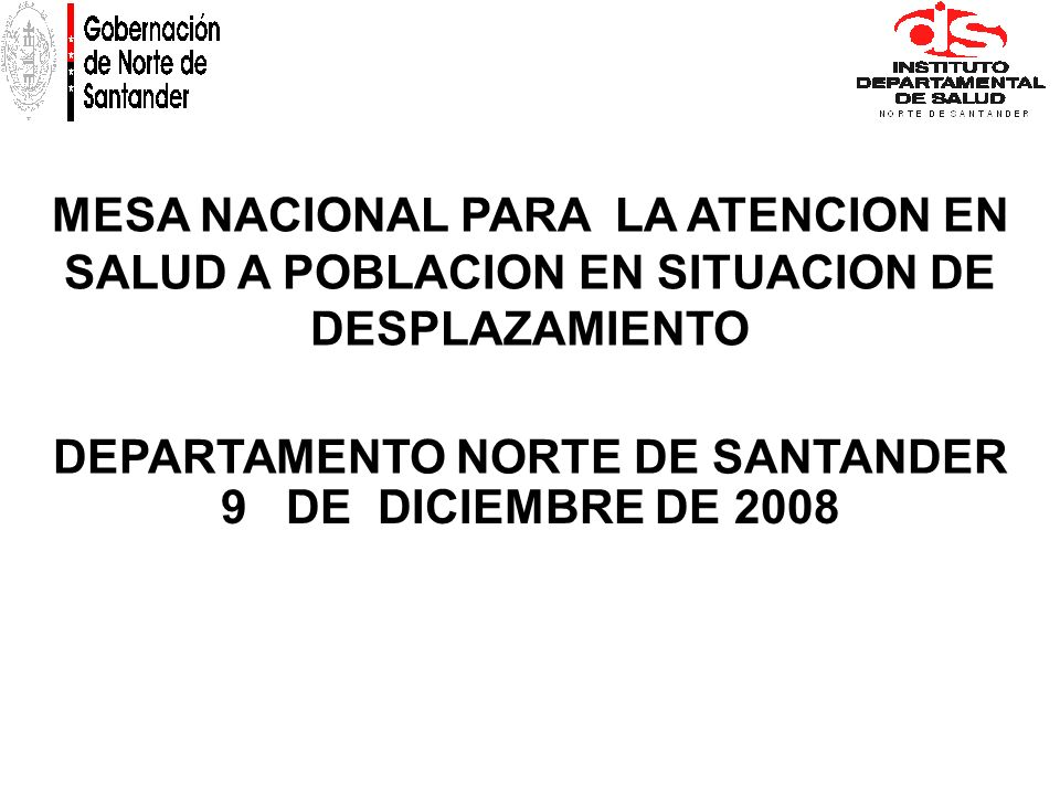 DEPARTAMENTO NORTE DE SANTANDER