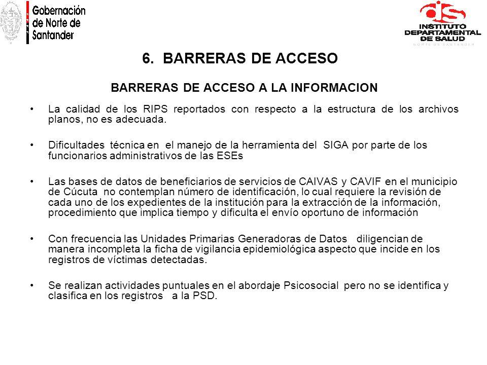 BARRERAS DE ACCESO A LA INFORMACION