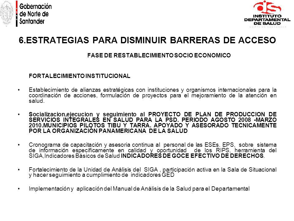 6.ESTRATEGIAS PARA DISMINUIR BARRERAS DE ACCESO