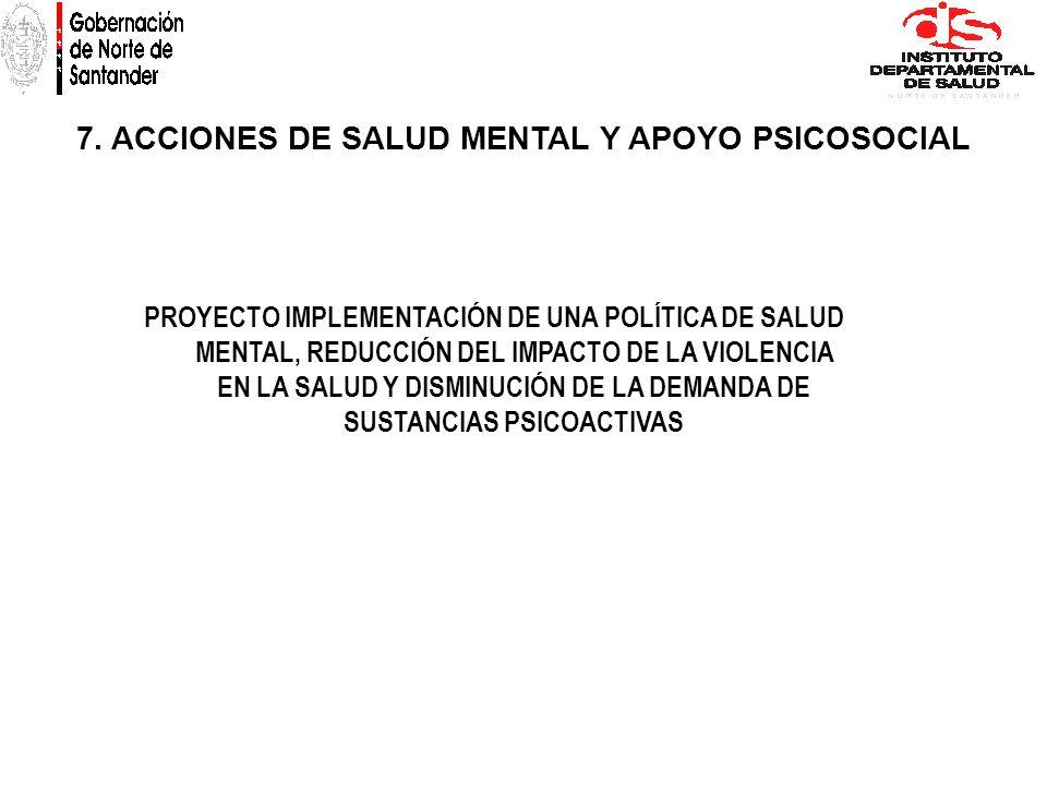7. ACCIONES DE SALUD MENTAL Y APOYO PSICOSOCIAL