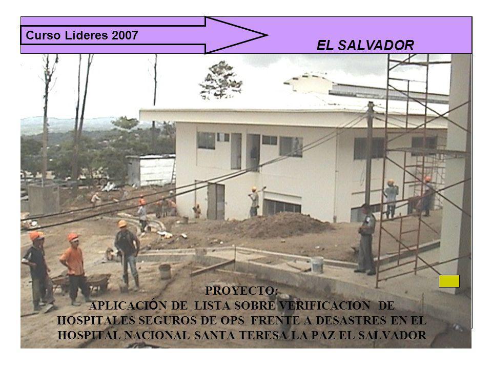 EL SALVADOR Curso Lideres 2007