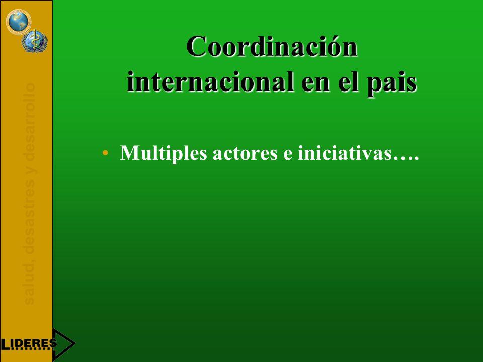 Coordinación internacional en el pais