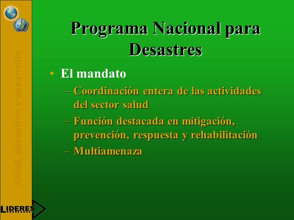 Programa Nacional para Desastres