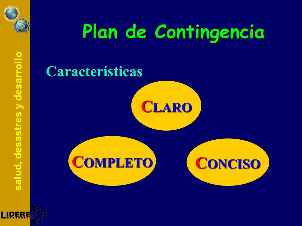 Plan de Contingencia Características CLARO COMPLETO CONCISO