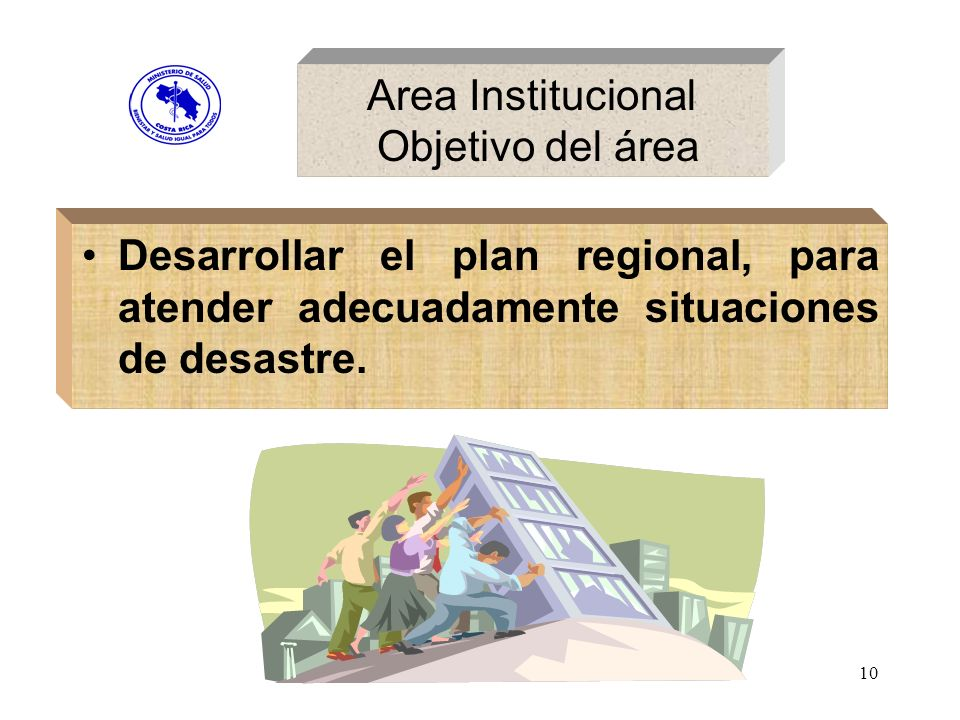 Area Institucional Objetivo del área