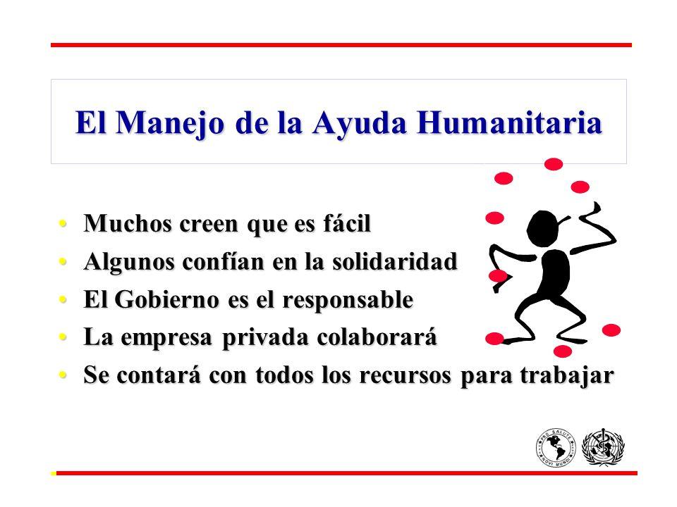El Manejo de la Ayuda Humanitaria