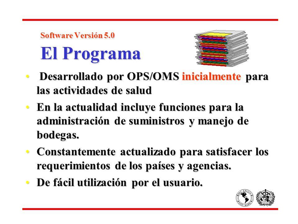 Software Versión 5.0 El Programa