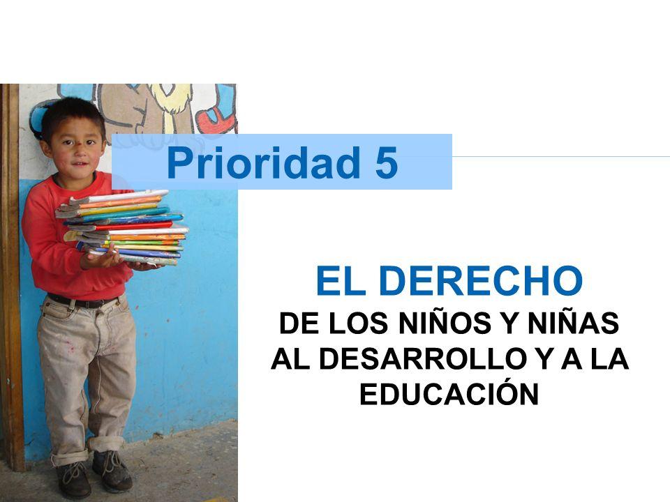 EL DERECHO DE LOS NIÑOS Y NIÑAS AL DESARROLLO Y A LA EDUCACIÓN