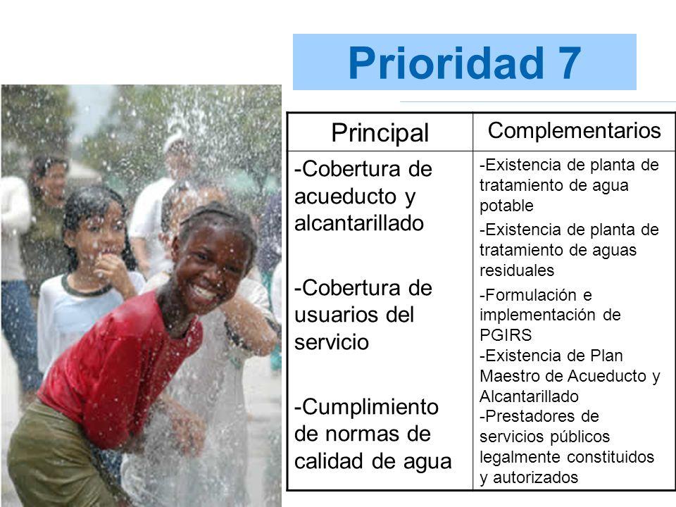 Prioridad 7 Principal Complementarios