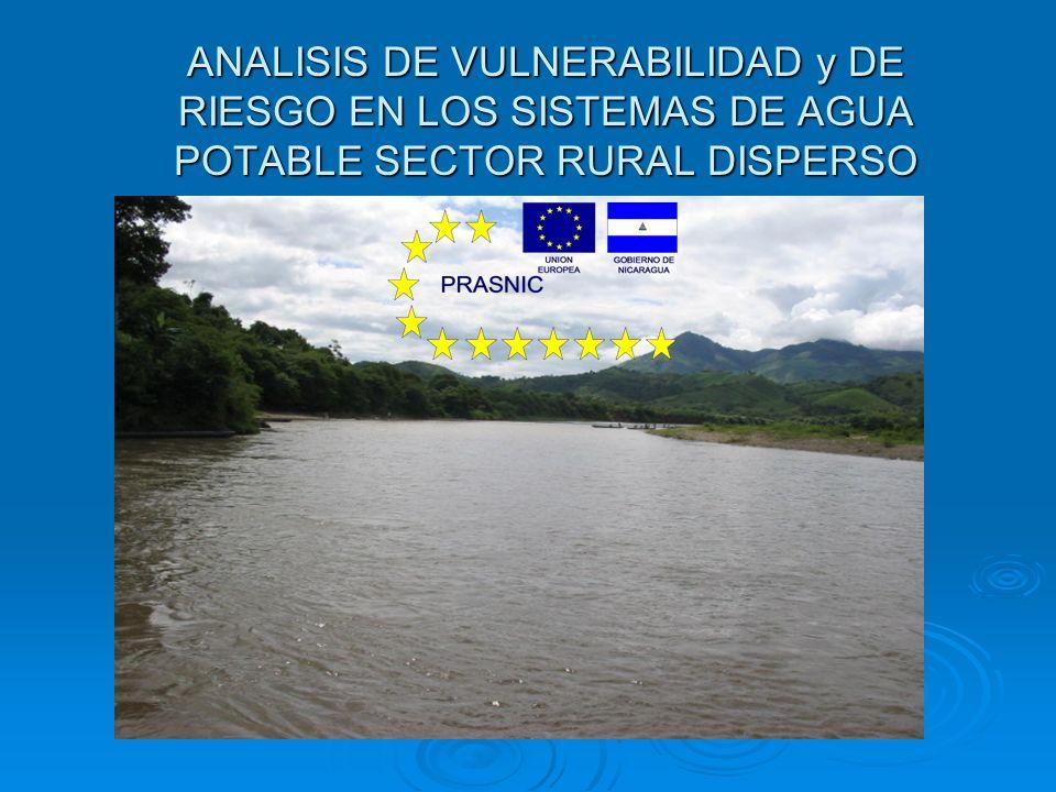 ANALISIS DE VULNERABILIDAD y DE RIESGO EN LOS SISTEMAS DE AGUA POTABLE SECTOR RURAL DISPERSO