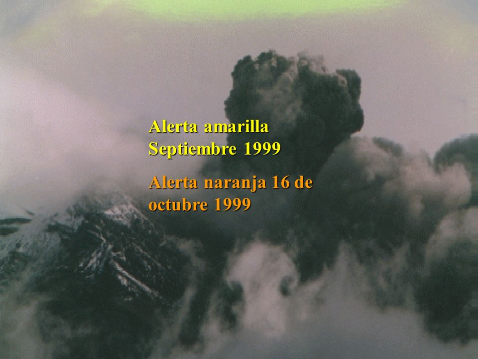 Alerta amarilla Septiembre 1999