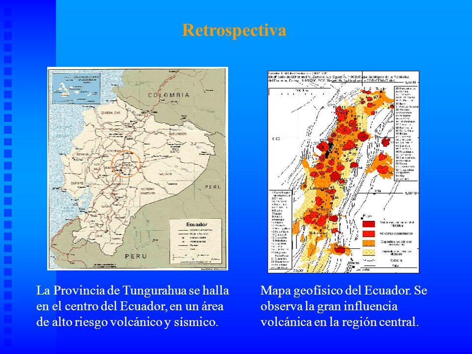 Retrospectiva La Provincia de Tungurahua se halla en el centro del Ecuador, en un área de alto riesgo volcánico y sísmico.