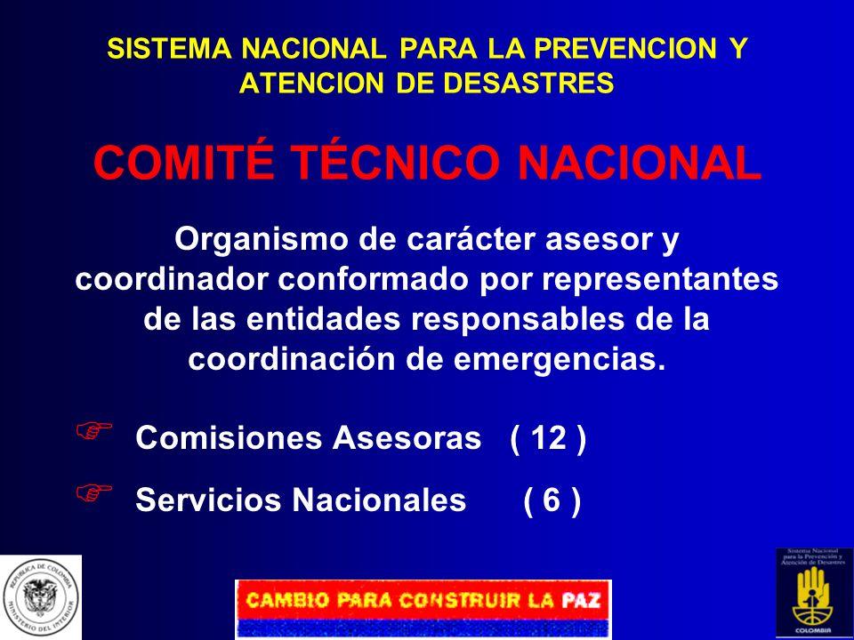 Comisiones Asesoras ( 12 ) Servicios Nacionales ( 6 )