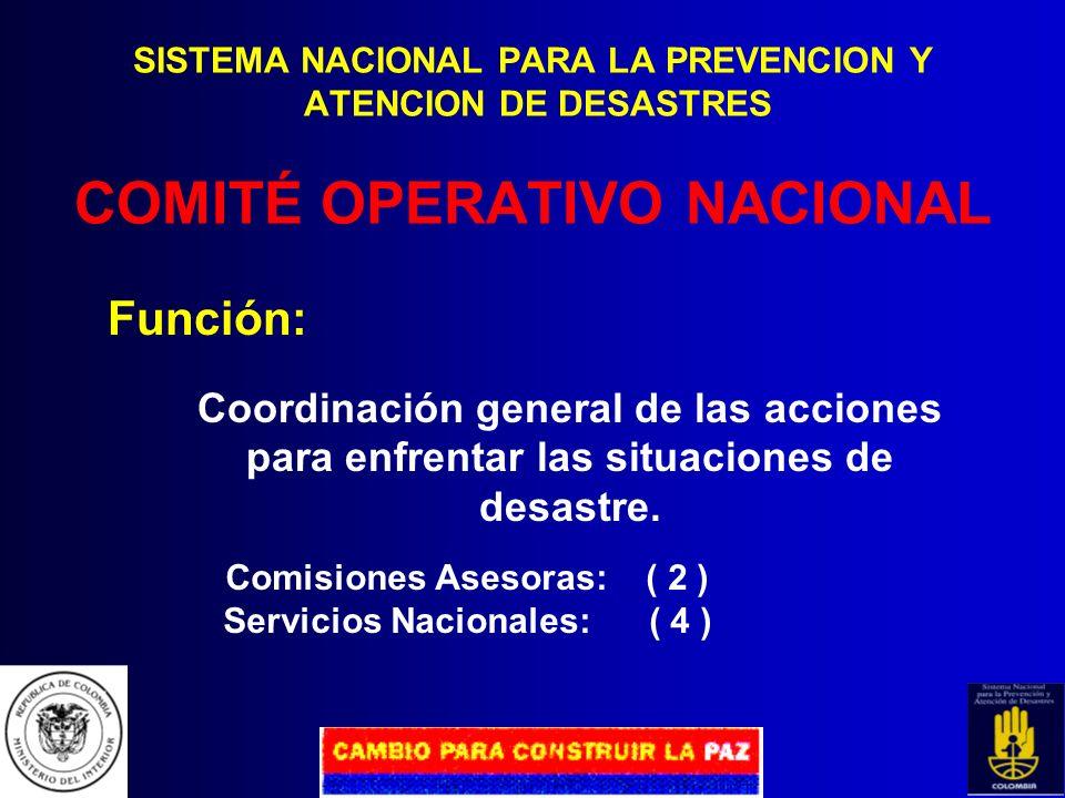 Comisiones Asesoras: ( 2 ) Servicios Nacionales: ( 4 )