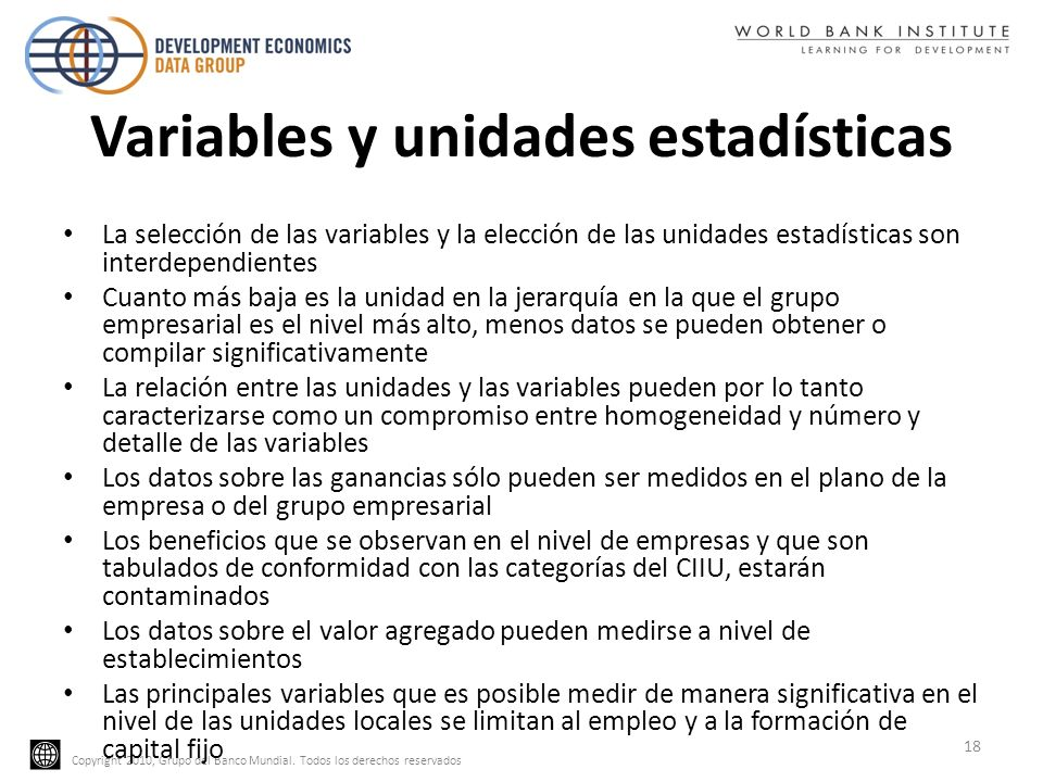 Variables y unidades estadísticas