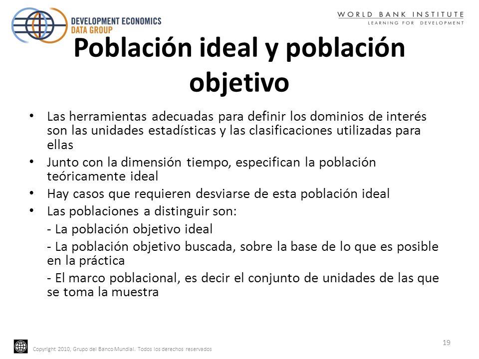 Población ideal y población objetivo