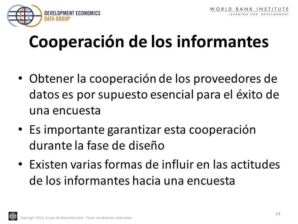 Cooperación de los informantes