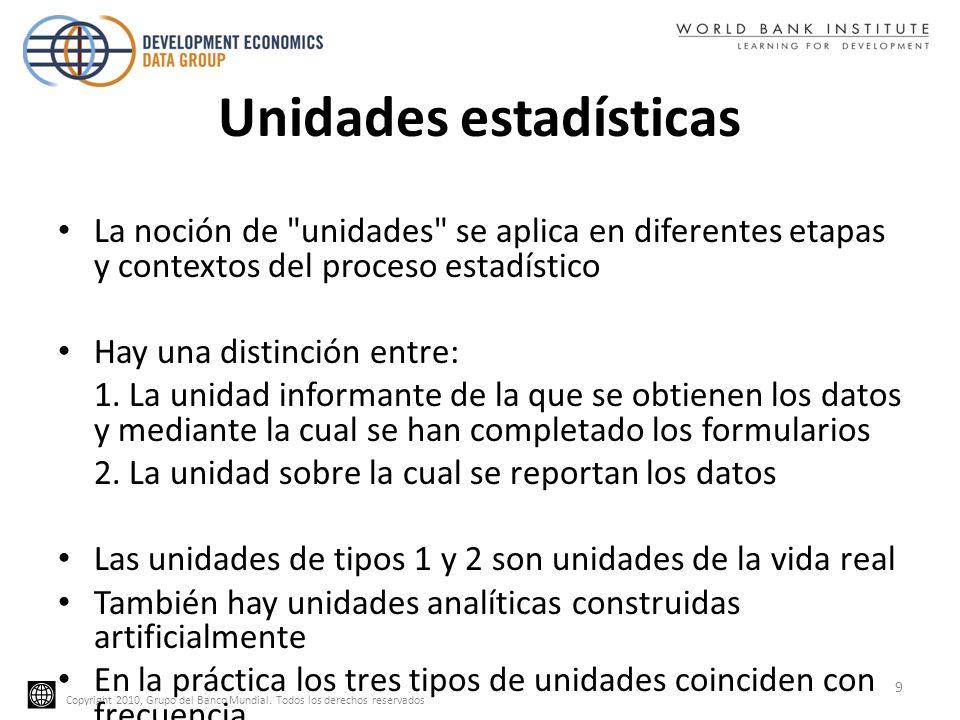Unidades estadísticas