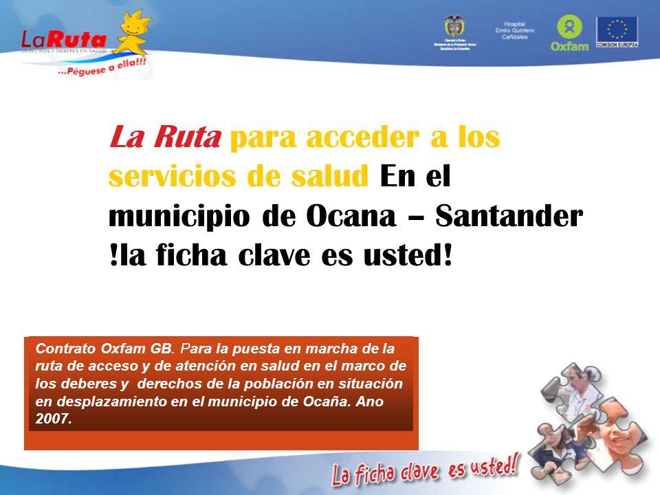 La Ruta para acceder a los servicios de salud En el municipio de Ocana – Santander