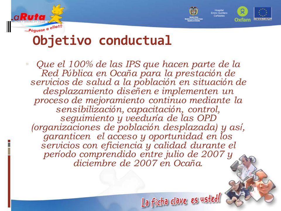 Objetivo conductual