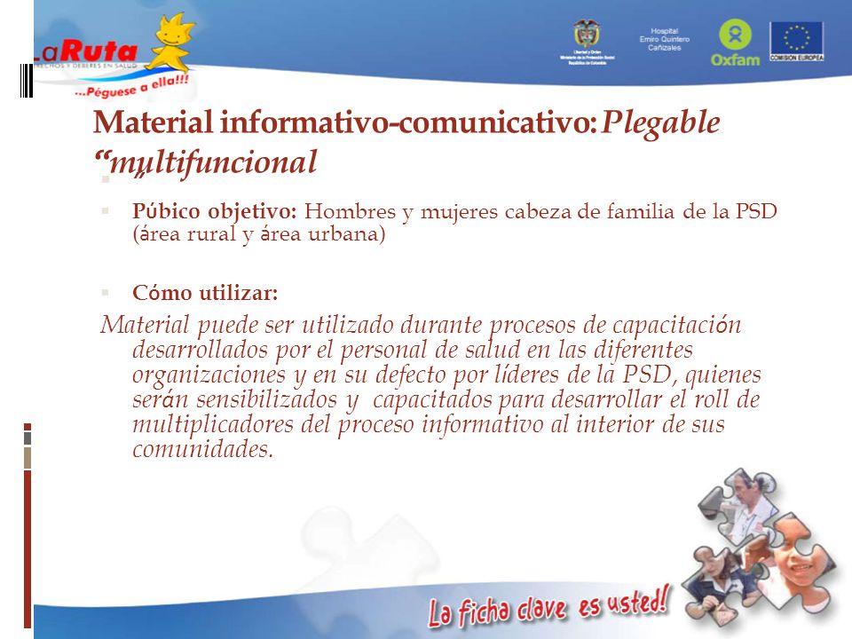 Material informativo-comunicativo: Plegable multifuncional