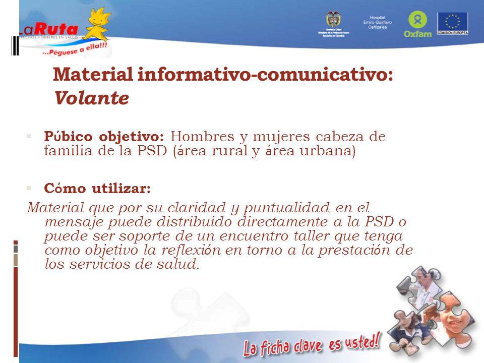Material informativo-comunicativo: Volante