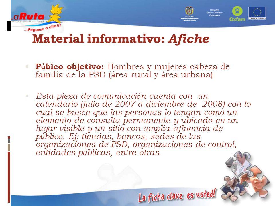 Material informativo: Afiche