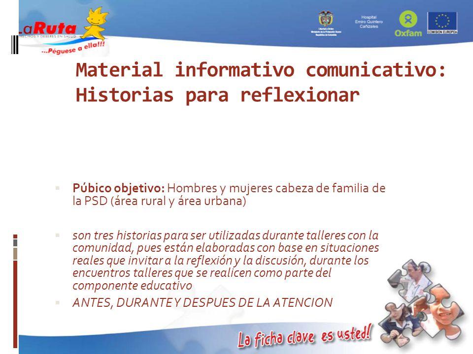 Material informativo comunicativo: Historias para reflexionar