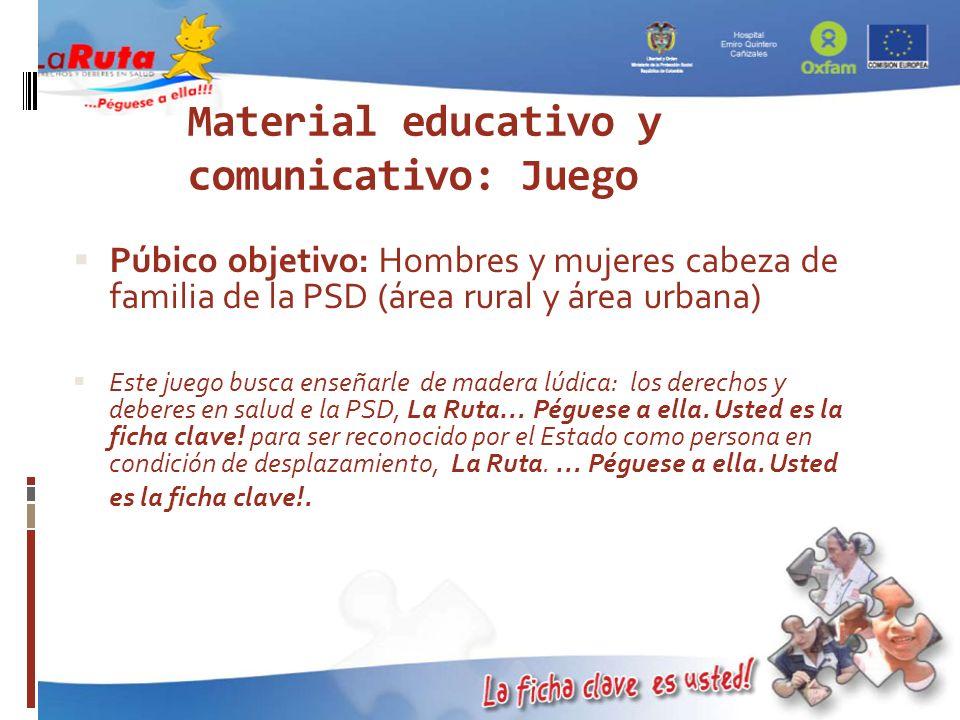 Material educativo y comunicativo: Juego