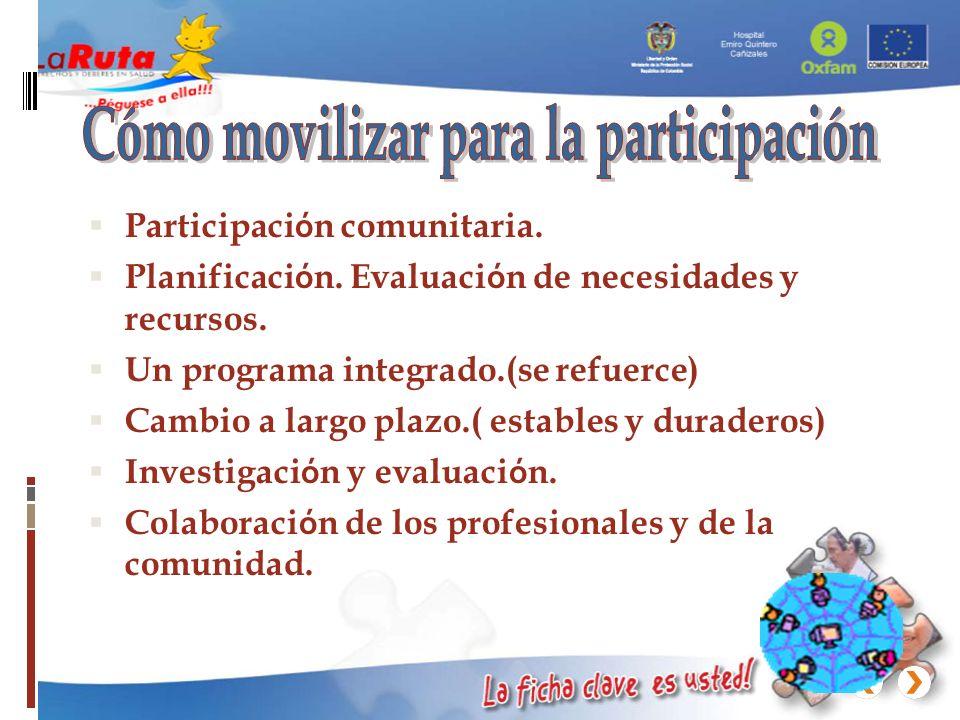 Cómo movilizar para la participación