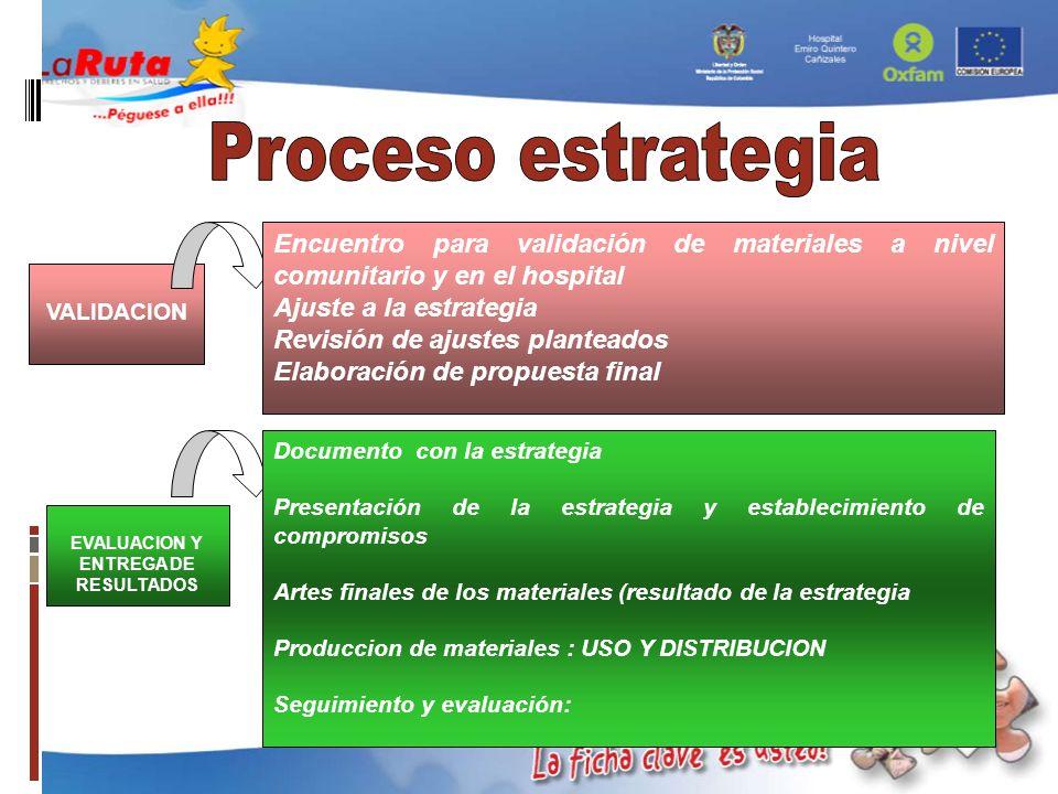 EVALUACION Y ENTREGA DE RESULTADOS