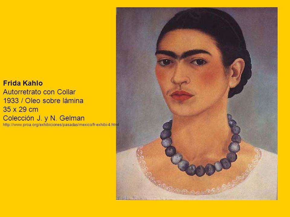 Autorretrato con Collar 1933 / Oleo sobre lámina