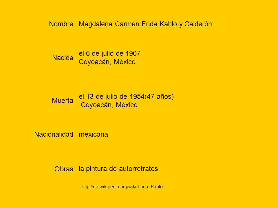 Magdalena Carmen Frida Kahlo y Calderón
