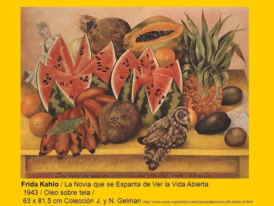 Frida Kahlo / La Novia que se Espanta de Ver la Vida Abierta
