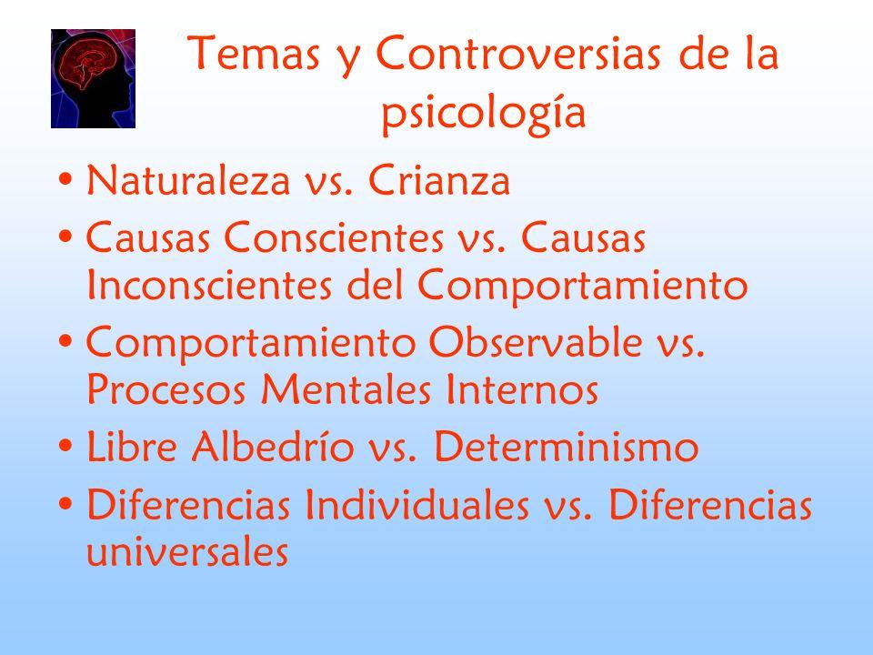Temas y Controversias de la psicología