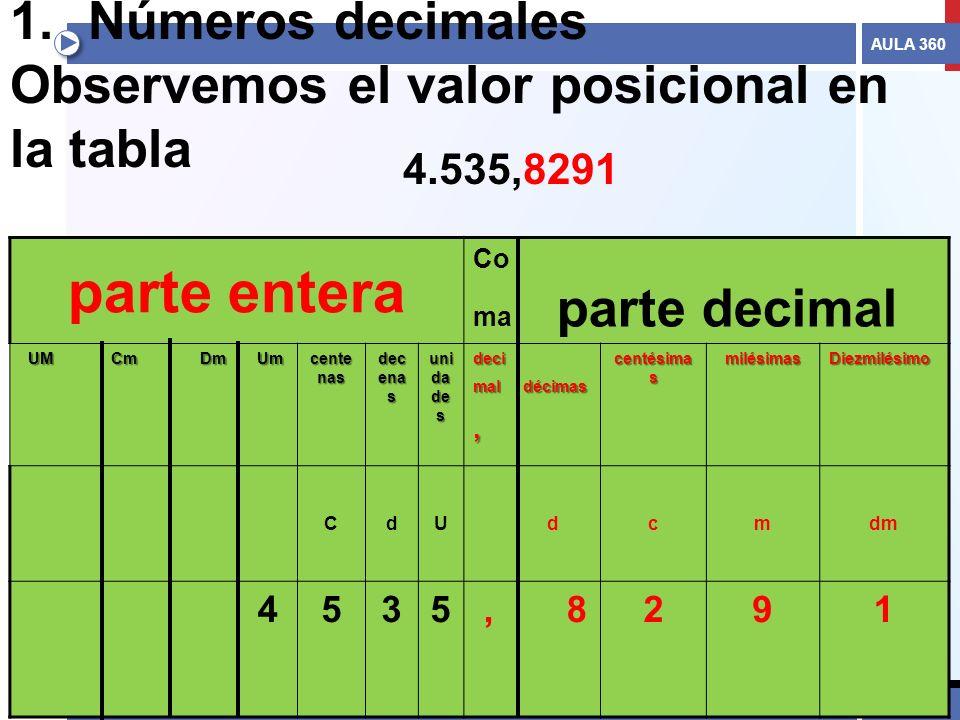 Valor Posicional De Los Decimales 2 N 218 Meros Decimales