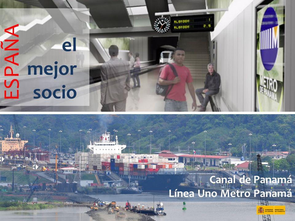 ESPAÑA el mejor socio Canal de Panamá Línea Uno Metro Panamá