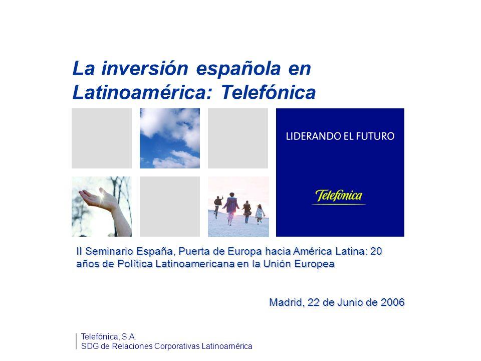 La inversión española en Latinoamérica: Telefónica