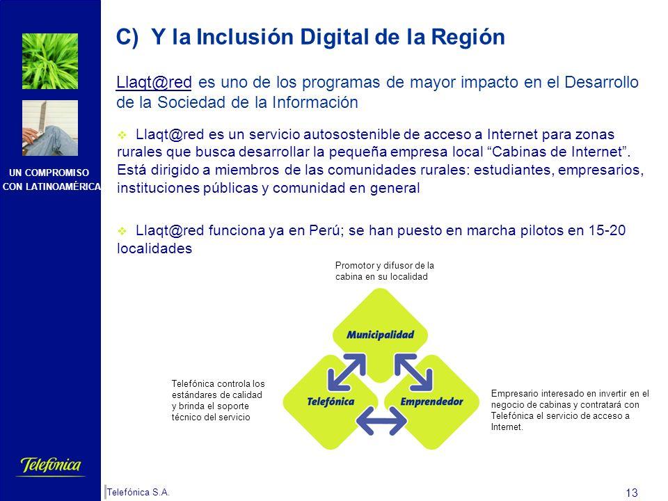 C) Y la Inclusión Digital de la Región