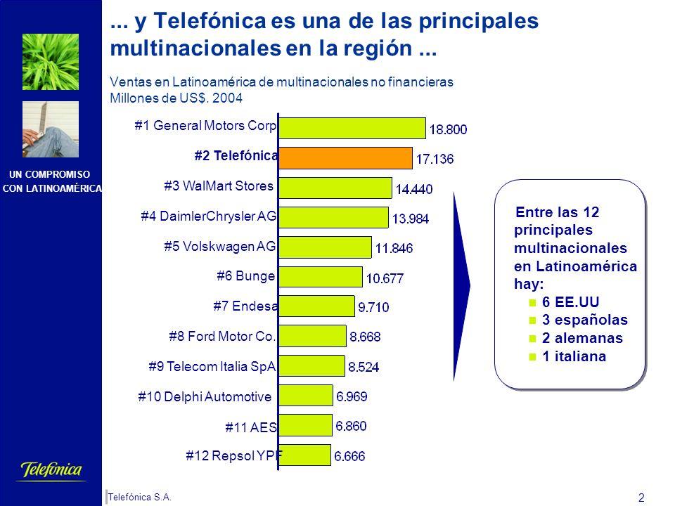 y Telefónica es una de las principales multinacionales en la región