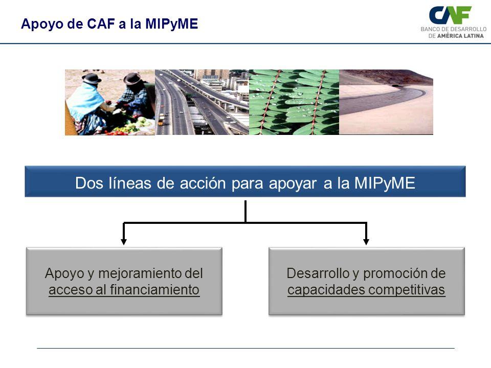 Dos líneas de acción para apoyar a la MIPyME