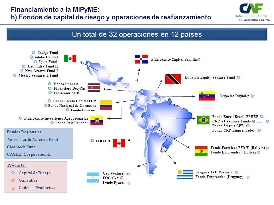 Un total de 32 operaciones en 12 países