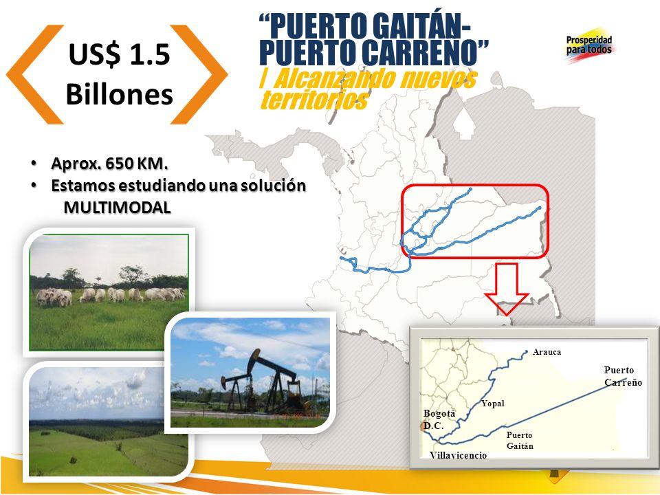 US$ 1.5 Billones PUERTO GAITÁN- PUERTO CARREÑO