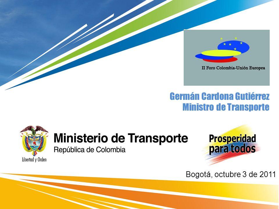 Germán Cardona Gutiérrez Ministro de Transporte