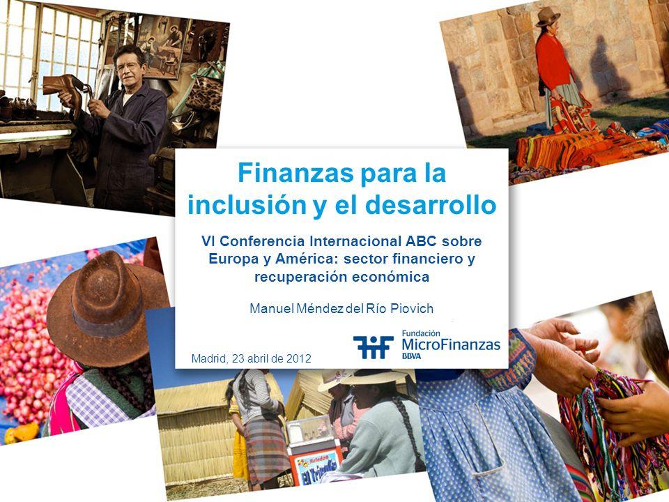 Finanzas para la inclusión y el desarrollo