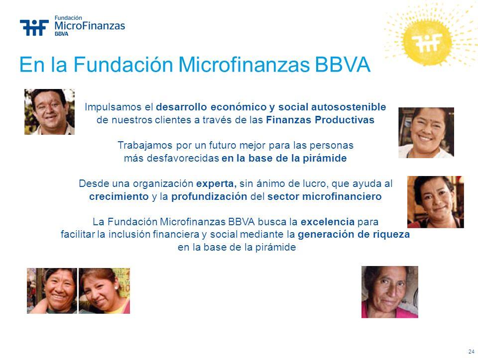 En la Fundación Microfinanzas BBVA