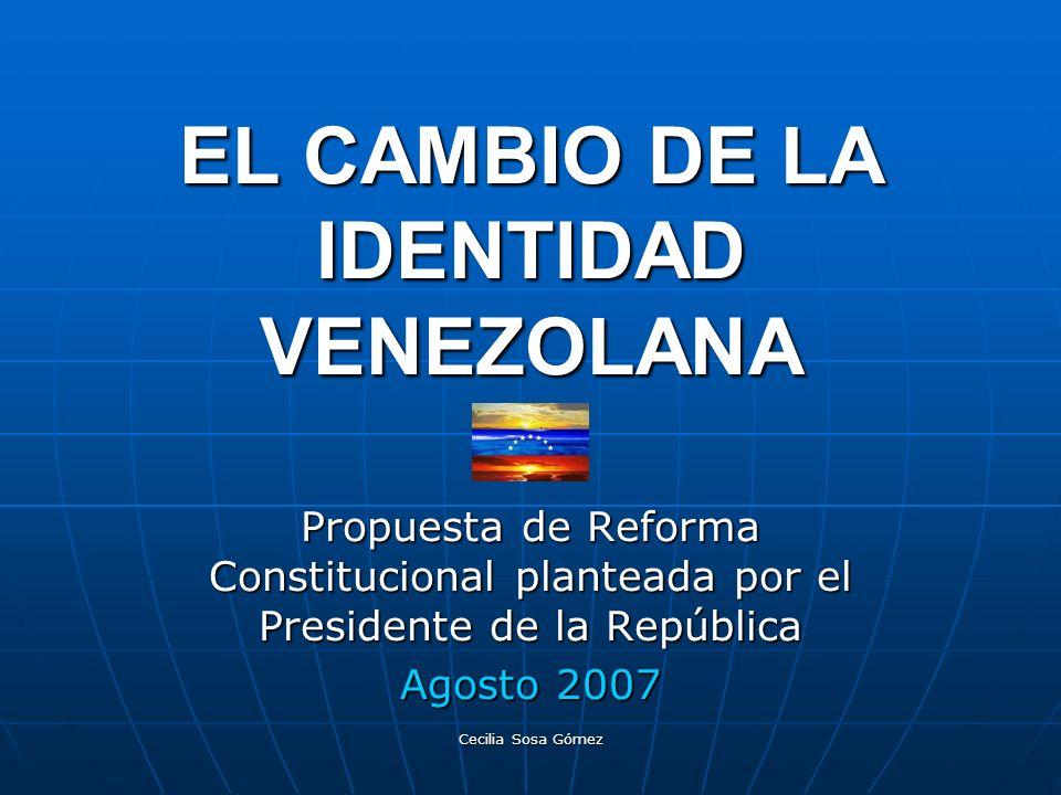 EL CAMBIO DE LA IDENTIDAD VENEZOLANA