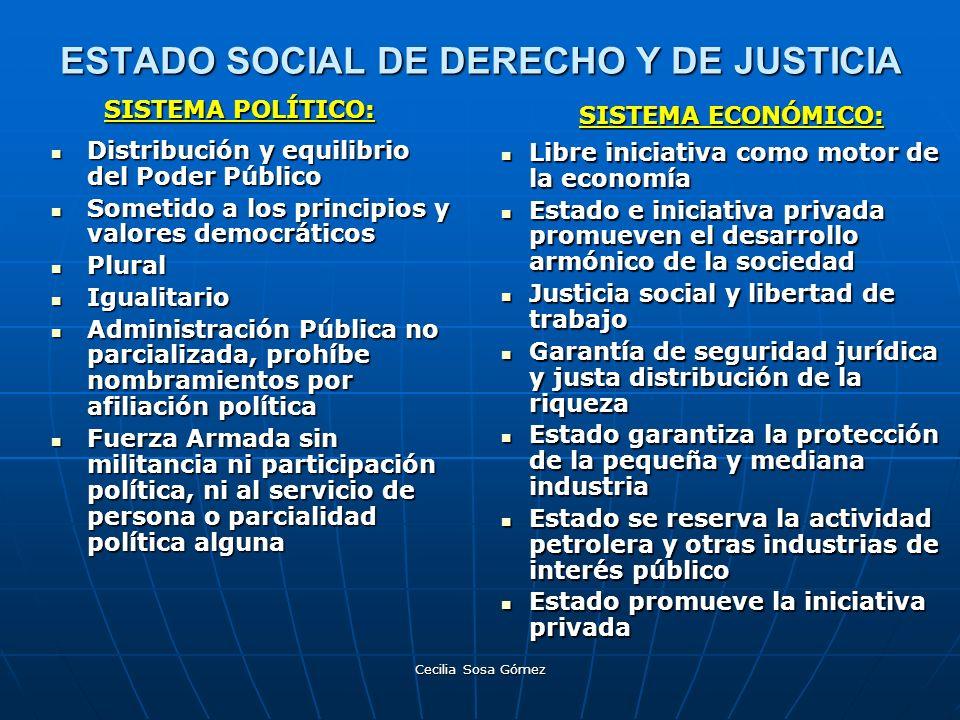 ESTADO SOCIAL DE DERECHO Y DE JUSTICIA